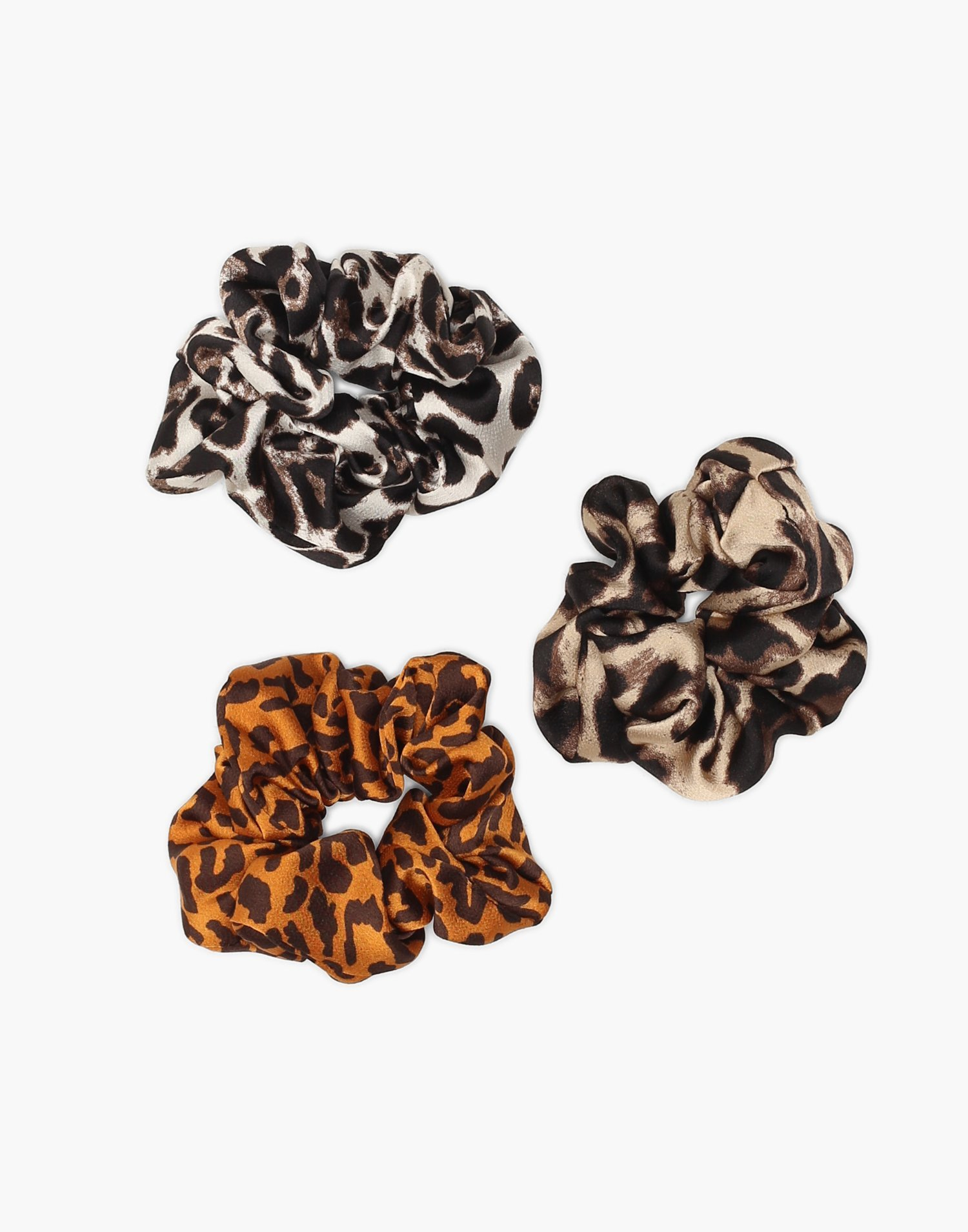 3 Pack Animal Print Scrunchies by Nly Accessories