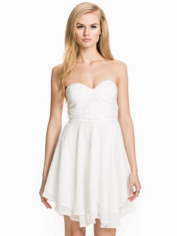 Te Amo - Sequin Crochet Bustier Banadeu Short Dress