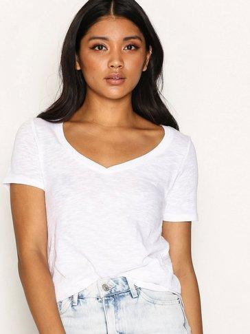 Topshop - Slub V-Neck T-Shirt