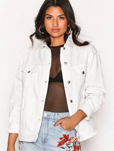 Topshop - MOTO Off White Oversize Denim Jacket
