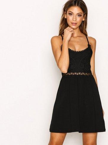 Topshop - Crochet Lace Insert Dress