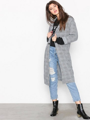 Topshop - Checked Duster Coat