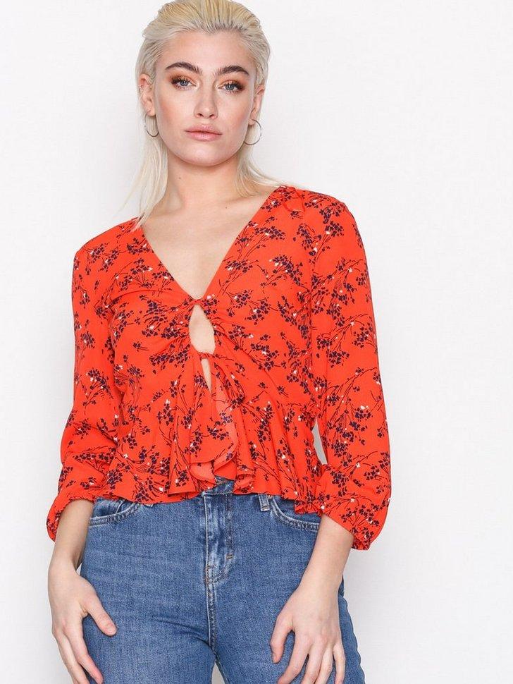 Bluser skjorter Floral Print Blouse - festtøj mode