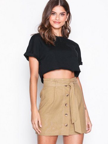 Topshop - Linen Button Paperbag Mini Skirt