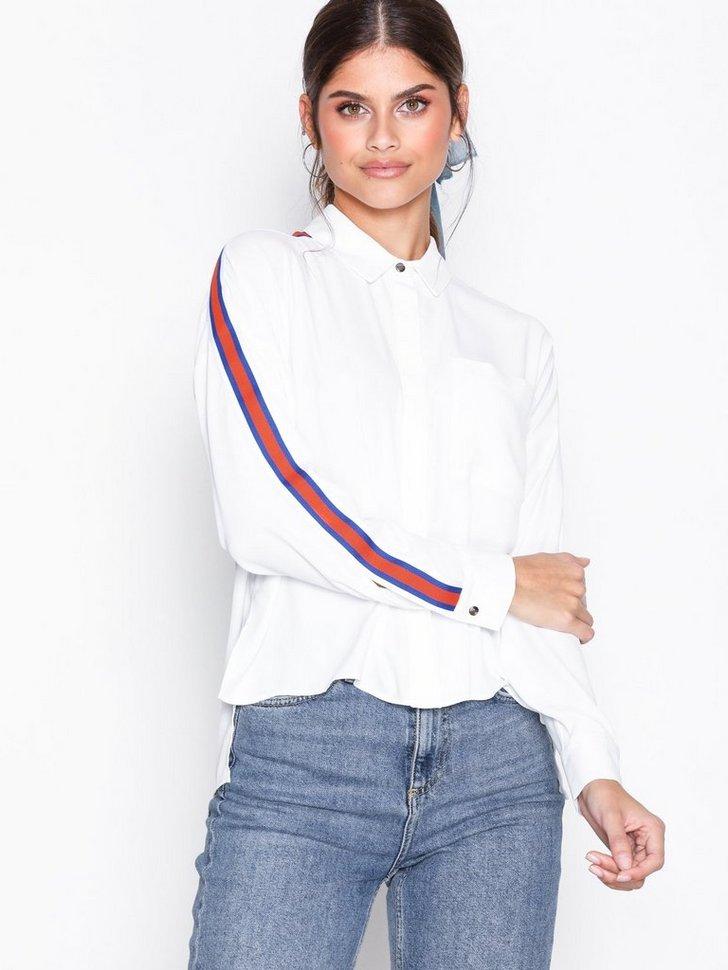 Festbluse Side Striped Shirt festtop