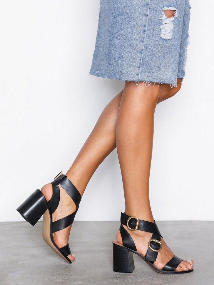 Festsko Cut Out Heeled Sandals køb