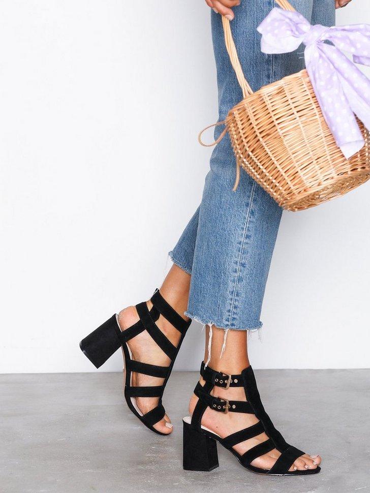 Festsko Nia Buckle Mid Sandals køb