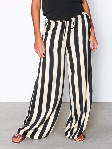 Topshop - Striped Wide Leg Trousers