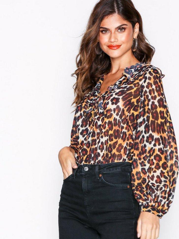 Nelly.com SE - Leopard Print Ruffle Blouse 498.00