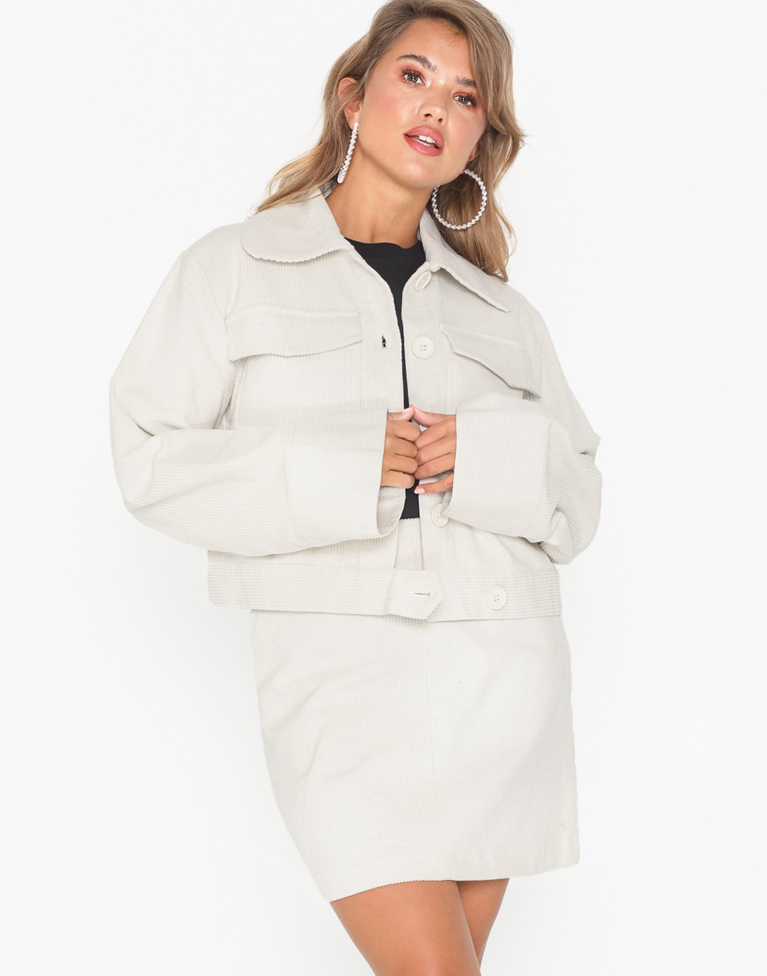 Wide Sleeve Cord Jacket by Nly Trend