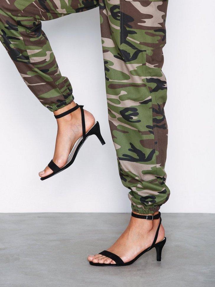 Heels Low Stiletto Strap Heel - festtøj mode