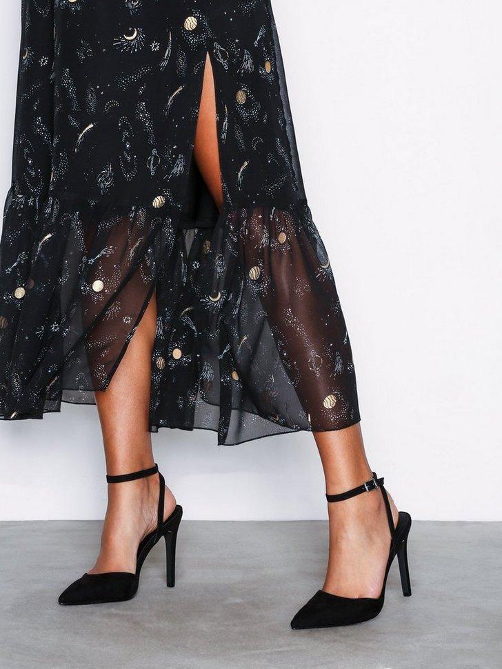 Heels Pointy Strap Heel Sandal - festtøj mode