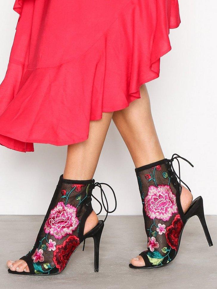Heels Lace Bootie - festtøj mode