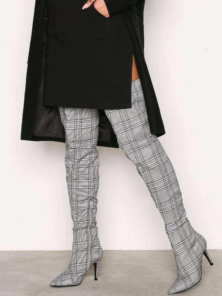 Nelly.com SE - Checked Thigh High Boot 798.00