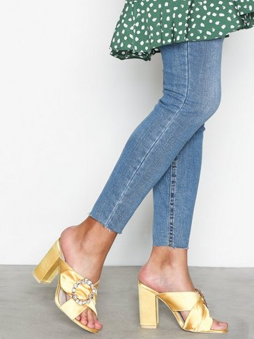Nly Shoes - Satin Embellished Mule