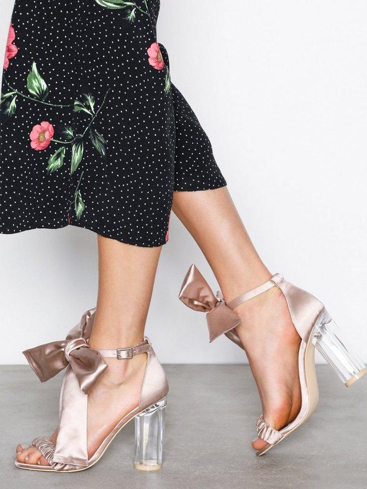 Festsko Bow Heel Sandal køb