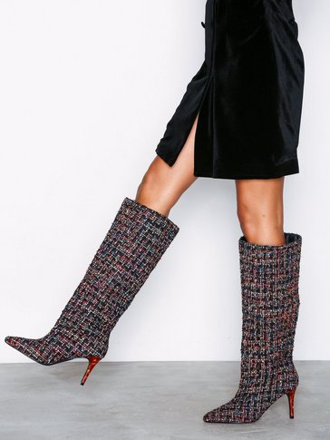 Nly Shoes - Tortoise Tweed Boot