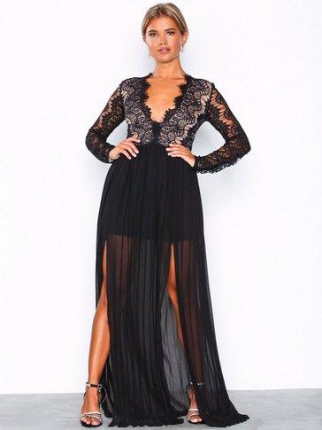 Rare London - Long Sleeve Lace Dress