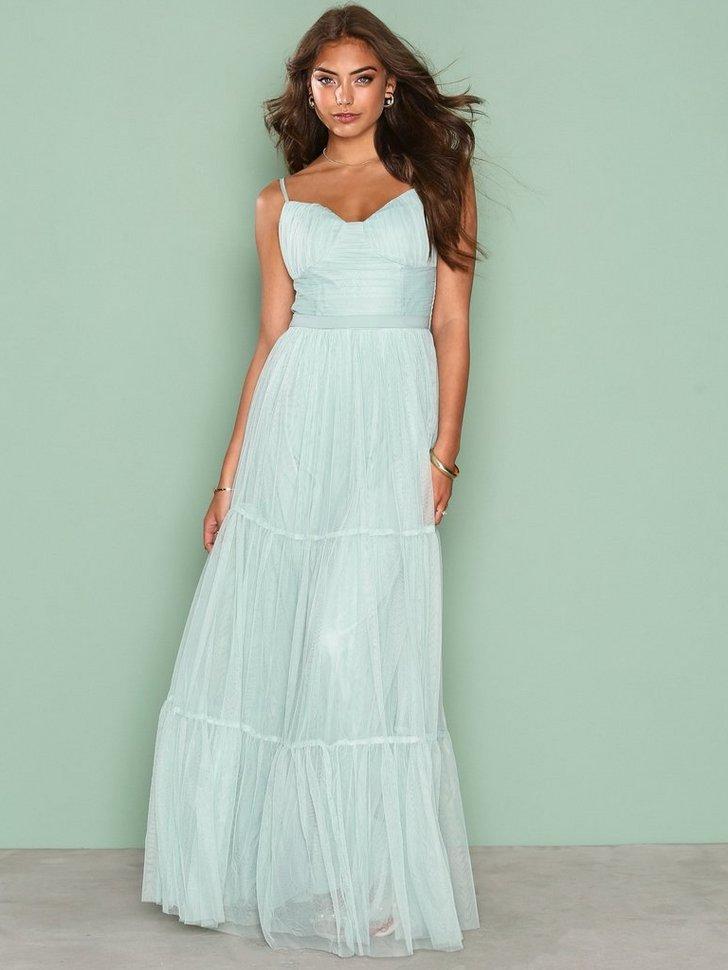 Festkjole Mesh Maxi Dress festtøj