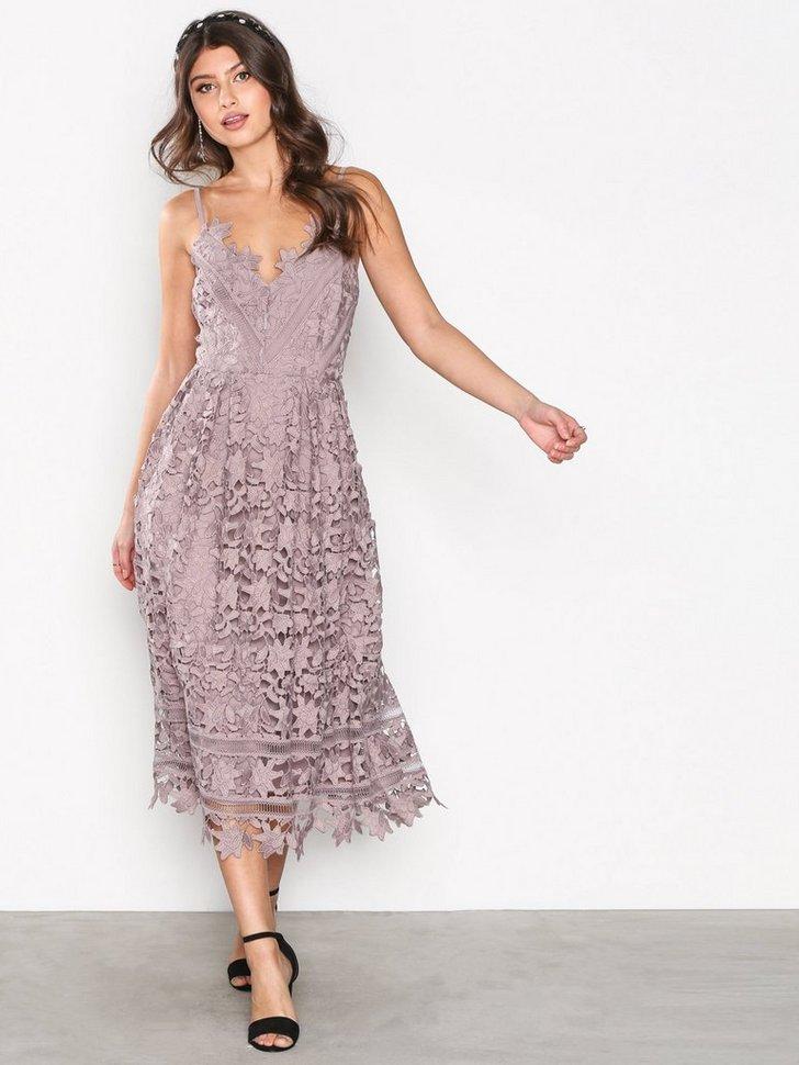 Festkjole Crochet Lace Dress festtøj