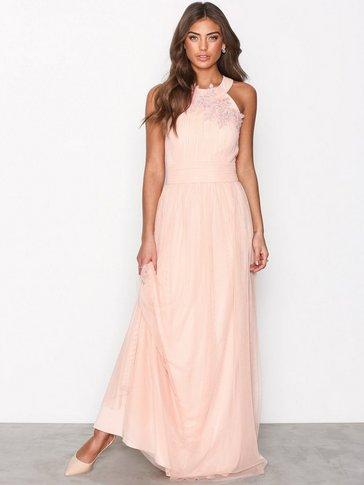 Little Mistress - Floral Applique Maxi Dress