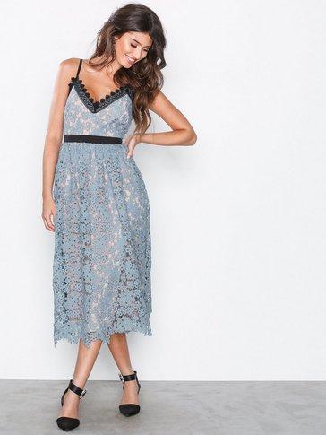 Little Mistress - Lace Plated Midi  Dress