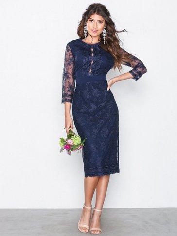 Little Mistress - Embroidered Midi Dress