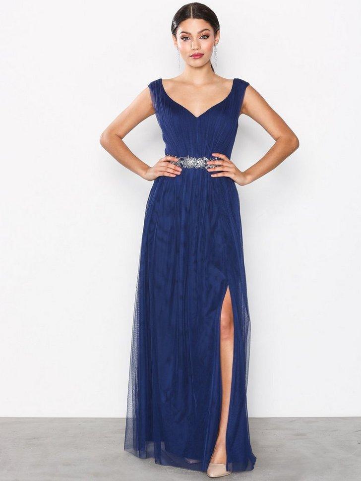 Multi Trim Mesh Dress køb festkjole