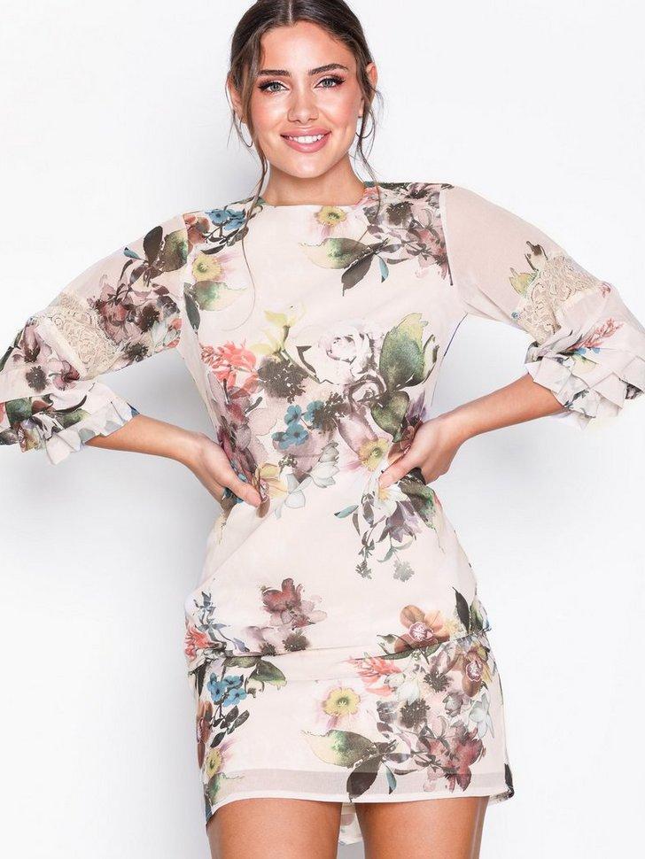 Festkjole Floral Midi Dress festtøj