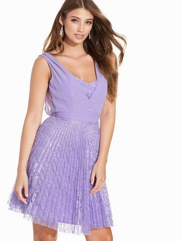 Elise Ryan - Lace Pleated Midi Dress