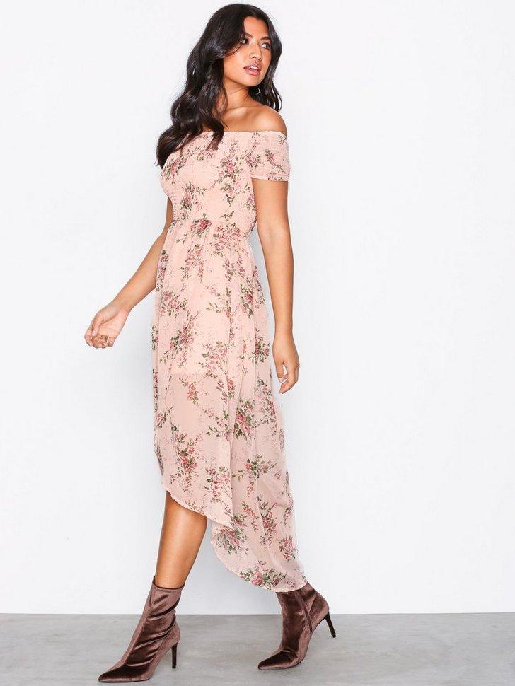 Off Shoulder Midi Dress køb festkjole