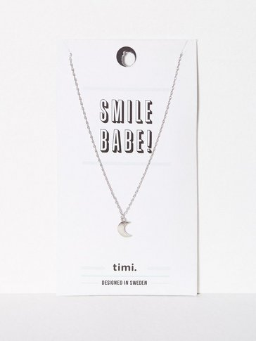 MINT By TIMI - Small Moon Necklace