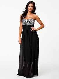Jewel Bustier Maxi Dress - Te Amo - Black - Party Dresses