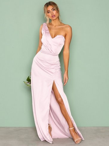 Missguided - Silky One Shoulder Maxi Dress