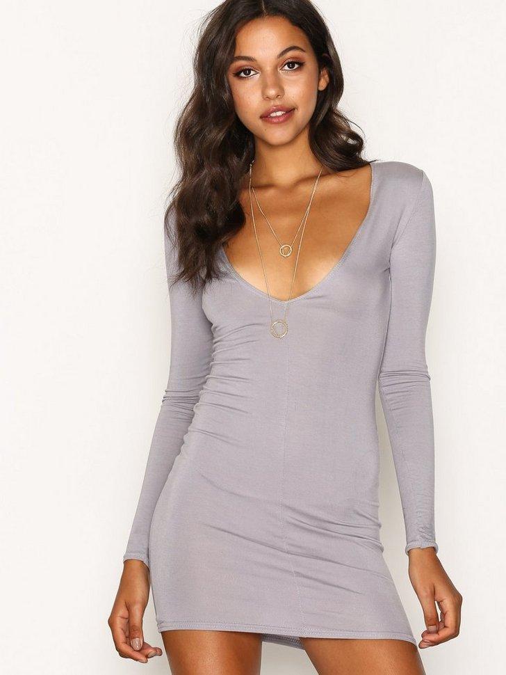 Nelly.com SE - Plunge Long Sleeve Bodycon Dress 158.00 (198.00)