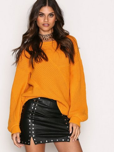 Missguided - Popper Detail Mini Skirt
