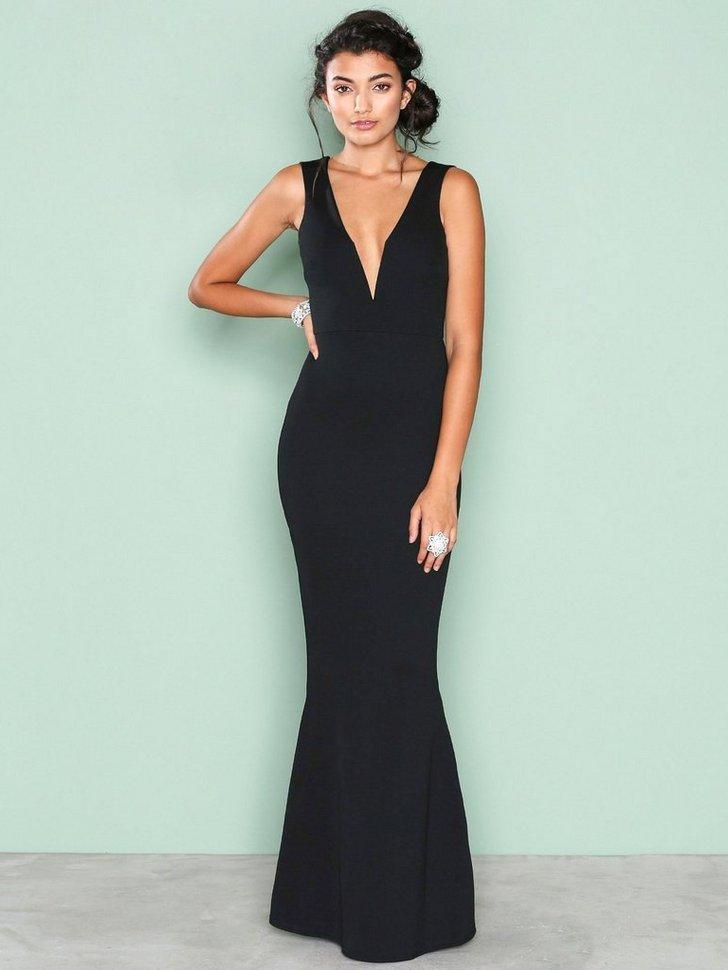 Plunge Maxi Dress køb festkjole