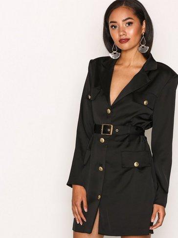 Missguided - Satin Military Blazer Dress