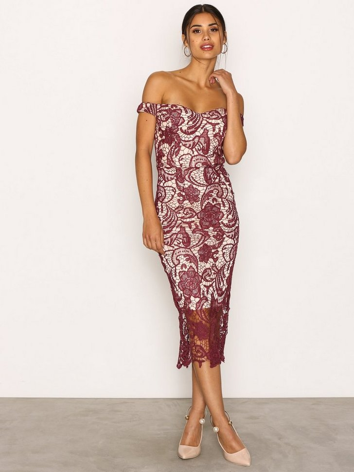 Nelly.com SE - Lace Bardot Midi Dress 548.00