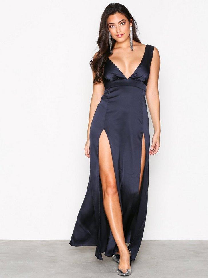 Plunge Double Split Maxi Dress køb festkjole