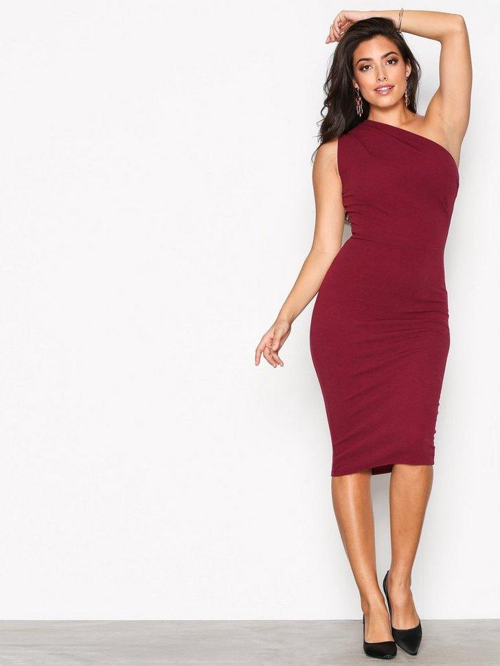 Crepe One Shoulder Dress