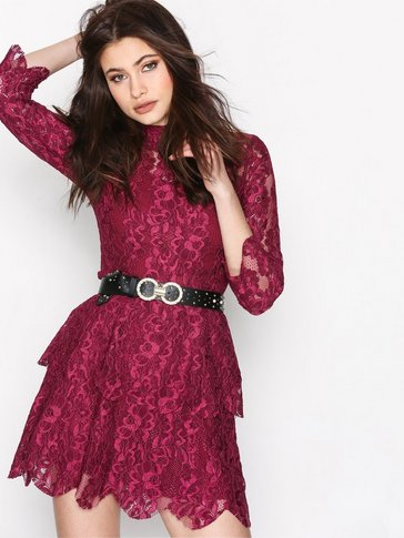 Missguided - Lace Layered Frill Dress