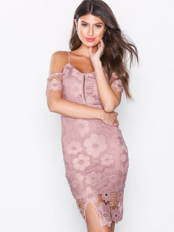 Crochet Bodycon Dress køb festkjole