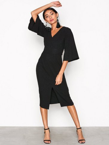 Closet - V-Neck Flared Sleeve Dress