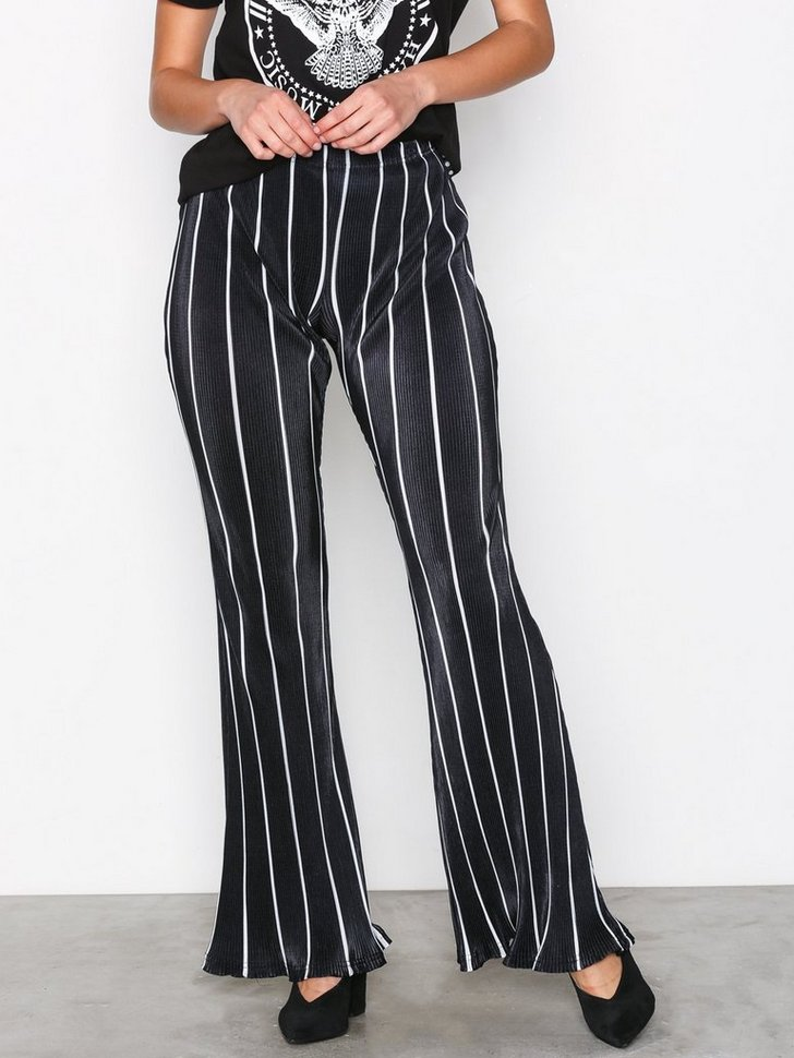 Nelly.com SE - Striped Plisse Flared Leg Trousers 209.00