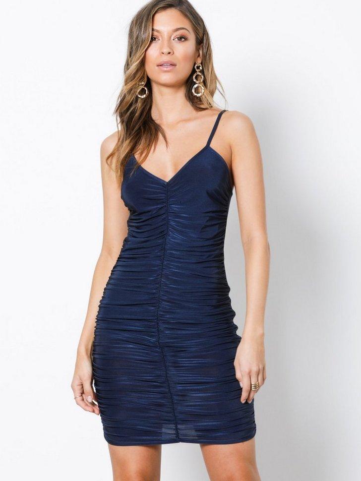 Slinky Ruched Front Mini Dress køb festkjole