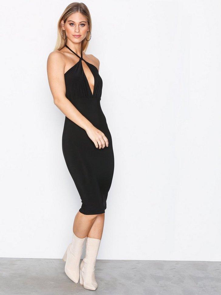 Slinky Tie Midi Dress køb festkjole