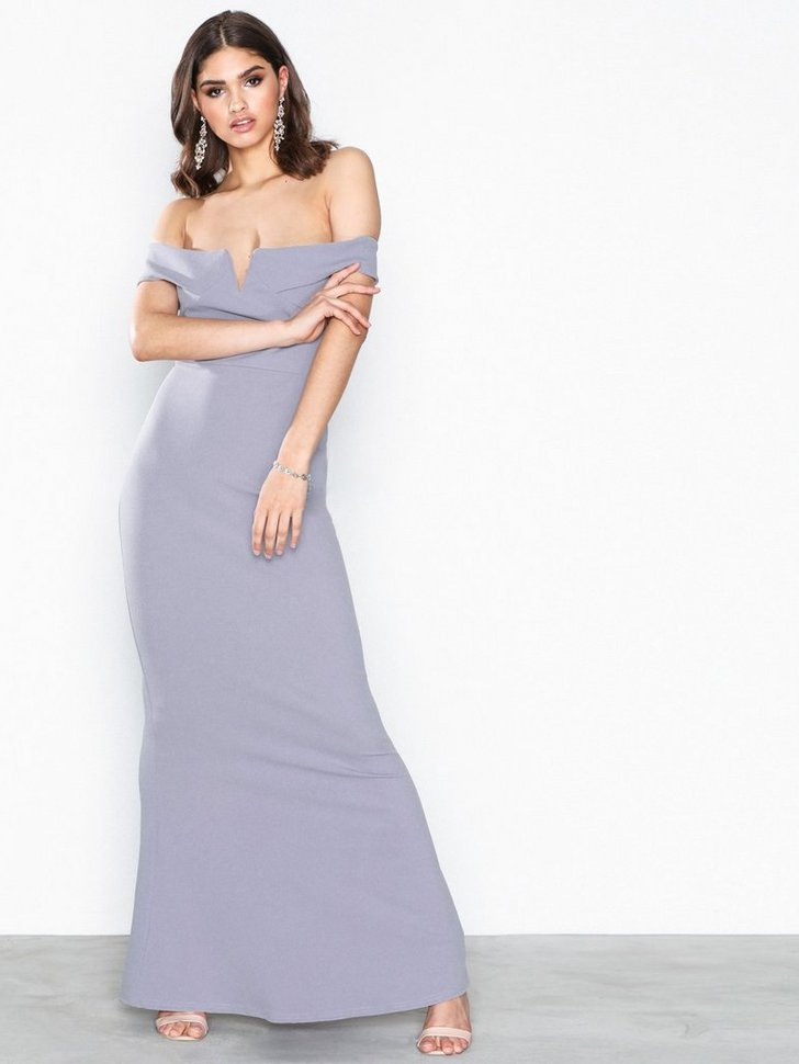 Nelly.com SE - Crepe Bardot V Plunge Maxi Dress 398.00