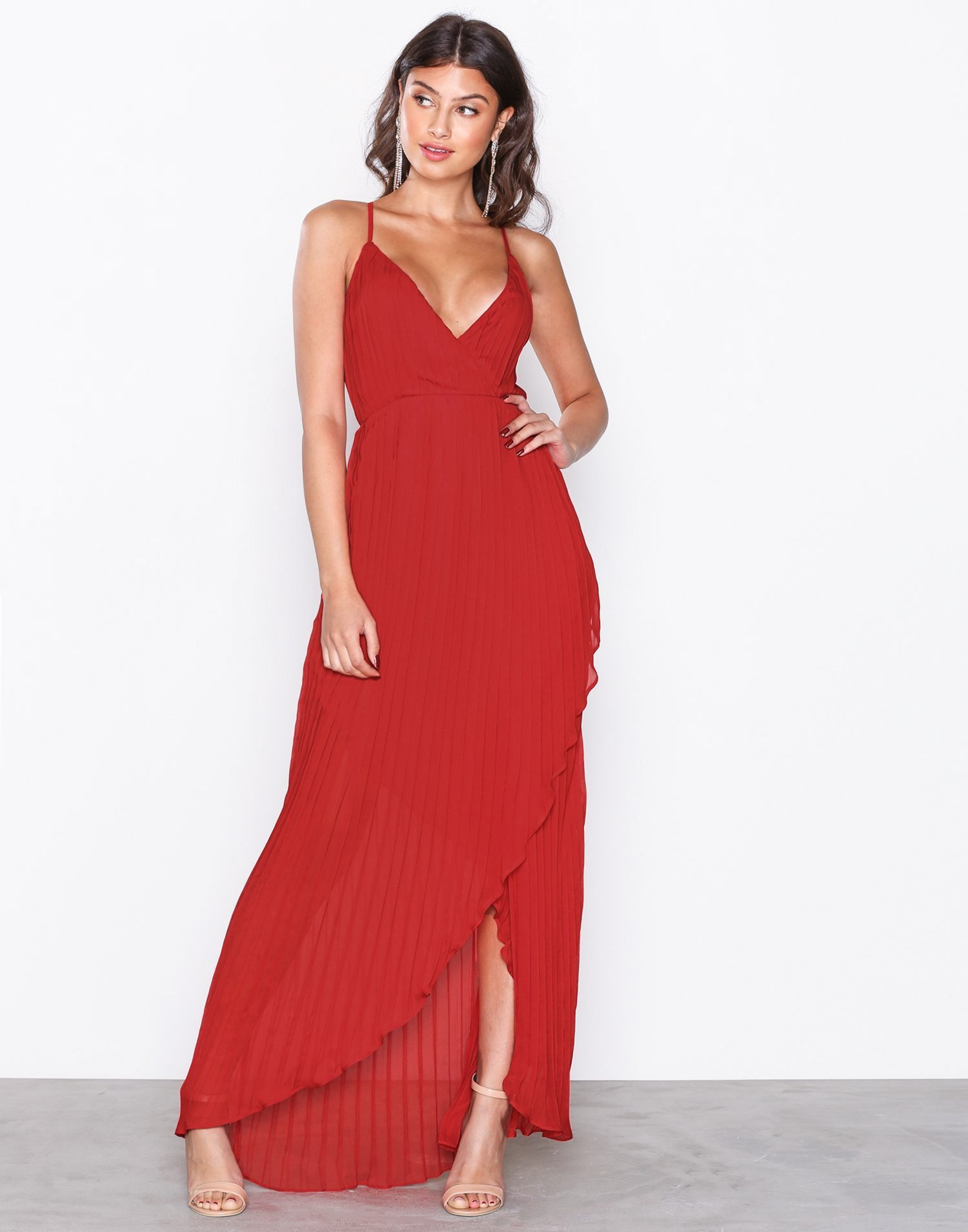 Chiffon Pleated Maxi Dress by Missguided