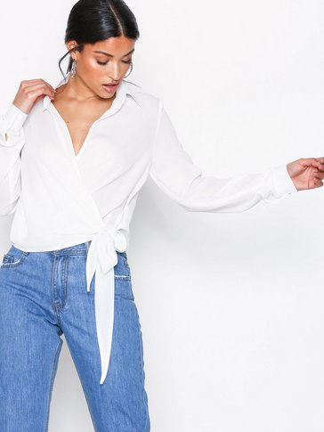 Missguided - Wrap Over Tie Side Blouse